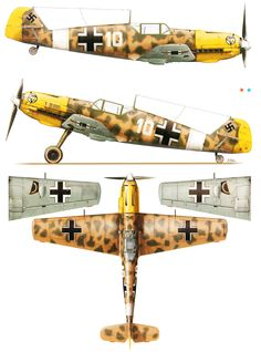 Messerschmitt Bf 109E7Trop 1.JG27 White 10 Gunther Steinhausen Libya 1941. Kagero top colors .