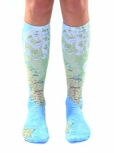 Map Knee High Socks