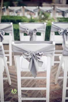 easy was to dress up chairs Wedding Chair Sashes, Wedding Chair Decorations, Wedding Chairs, Arizona Gardening, Arizona Wedding, Garden Chairs, Wedding Inspiration, Wedding Ideas, Wedding Events