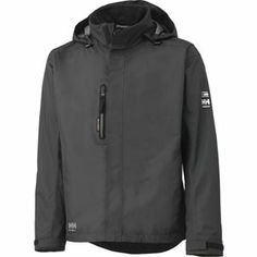 Helly Hansen HAAG 71043 990 Waterproof Men's Black Jacket from our online selection. Crafted with polyester, the Helly Hansen HAAG shell jacke Mens Rain Jacket, Hooded Jacket, Men's Jacket, Bomber Jacket, Mode Masculine, Helly Hansen Jacke, Expensive Clothes, Herren Outfit, Work Jackets