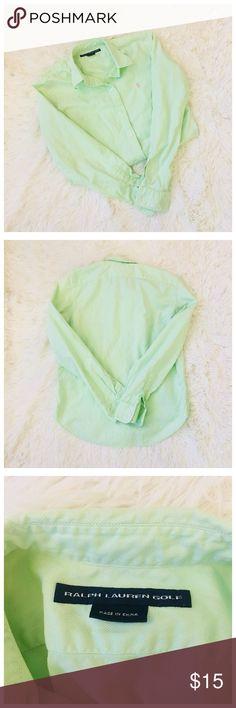 Ralph Lauren Button Down Oxford Shirt Worn, but in decent condition. Fits like a small. Ralph Lauren Golf Tops Button Down Shirts