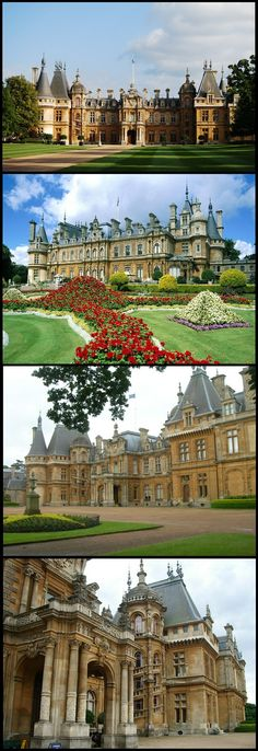 "Waddesdon Manor is a country house in the village of Waddesdon, in Buckinghamshire, England. The house was built in the Neo-Renaissance style of a French château between 1874 and 1889 for Baron Ferdinand de Rothschild (1839""""1898)"
