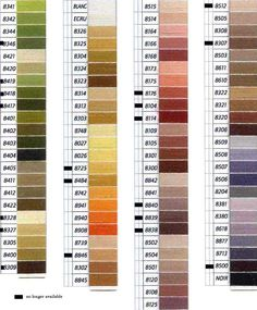 DMC Medici Color Chart 2