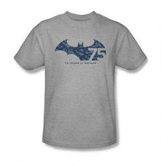 Batman 75th Anniversary Collage Adult Heather T-shirt
