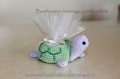 Un Mondo di Fantasie all'Uncinetto di Lisa : Bomboniera tartaruga portaconfetti - Crochet
