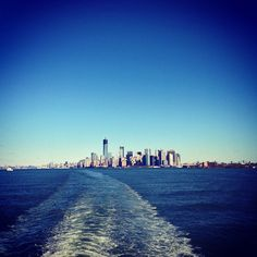 From the Staten Island Ferry Boat ... My hometown Staten Island, NY ... When I visit, love to take the SI Ferry to NYC!