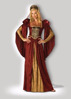 Incharacter Renaissance Maiden Medieval Adult Womens Halloween Costume 11013 bc23fd09f6b01