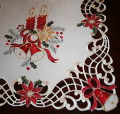Christmas Poinsettia Floral Table Runner - Google Search