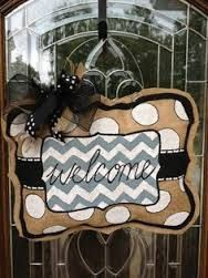 Hey, I found this really awesome Etsy listing at https://www.etsy.com/listing/174332304/stuffed-burlap-door-hanger-choose-any