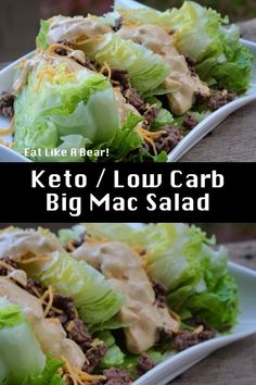 Carb Big Mac Salad - Eat Like A Bear!™ For Weight Loss!You can find Mac and more on our website.Carb Big Mac Salad - Eat Like A Bear!™ For Weight Loss! Keto Foods, Healthy Foods To Eat, Healthy Eating, Healthy Weight, Healthy Munchies, Healthy Fruits, Healthy Kids, Low Carb Recipes, Diet Recipes