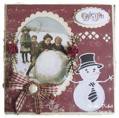 pipserier: Børn i sneen.