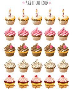Cupcake Stickers (Erin Condren planner stickers)