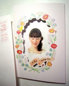 Masako Kubo, wreath, floral, illustration, drawing, design, photo frame, DIY, project