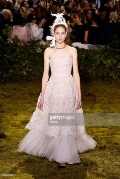 A model walks the runway during the Christian Dior designed by Maria Grazia Chiuri Spring Summer 2017 show as part of Paris Fashion Week on January 23, 2017 in Paris, France. (Photo by Estrop/Getty Images)