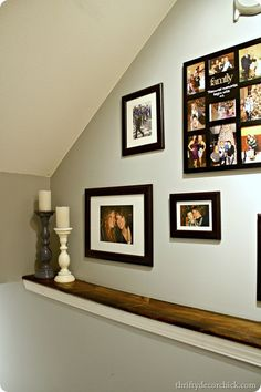 Hmmm...I could make a ledge like this on the bump in our basement stair well
