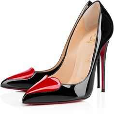 Christian Louboutin Corafront (€710) ❤ liked on Polyvore featuring shoes, pumps, heels, louboutin, pointy-toe pumps, christian louboutin shoes, heart pump, heart heel shoes and patent pointed toe pumps