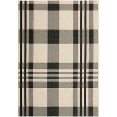 Safavieh Courtyard Black/ Bone Indoor Outdoor Rug   Overstock.com Shopping - The Best Deals on 3x5 - 4x6 Rugs