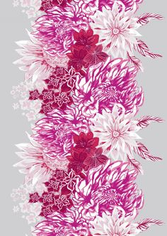 A beautiful, rich and fascinating floral patterned Ikebana curtain, by Vallila designer Matleena Issakainen, is inspired by the Japanese art of flower arranging (Ikebana). The pattern features flowers, which form the center of the fabric design. Japanese Culture, Japanese Art, Marimekko, Pink Eyes, Pink Candy, Ikebana, Earthy, Fabric Design, Flower Arrangements