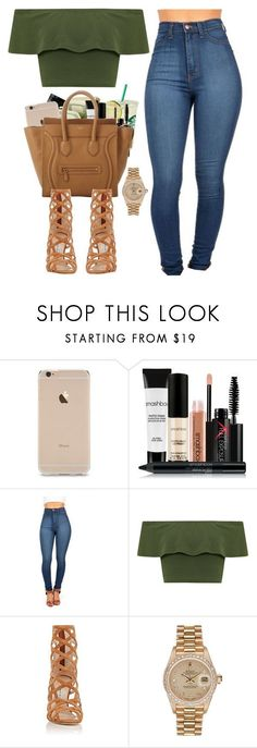 """""""Untitled #463"""" by pinkymimi ❤ liked on Polyvore featuring Smashbox, CÉLINE, WearAll, Manolo Blahnik and Rolex #manoloblahnikoutfit"""