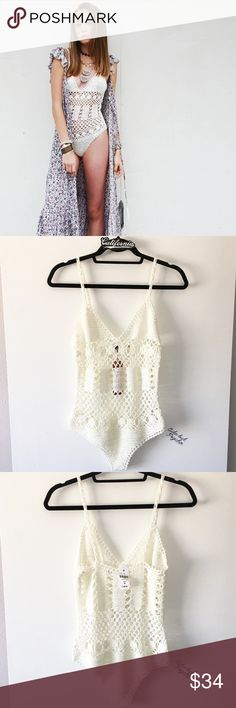 BNWT white crochet bodysuit Brand: E-lady (LF) Size: medium    Rating  Shop with confidence   Ship same day or next day  Free Brandy stickers with purchase   Bundle and save ️️ Accepted  ✅ Accepted  ⛔️ Trades ⛔️ Lowball offers LF Intimates & Sleepwear