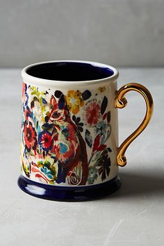 Mooreland Mug: splash of color from Starla Michelle Halfmann. #anthropologie