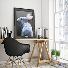 Rabbit Tail Print, Nursery Wall Art, Gender Neutral, Woodlands Decor, Printable Download, Large Poster, Animal Photo