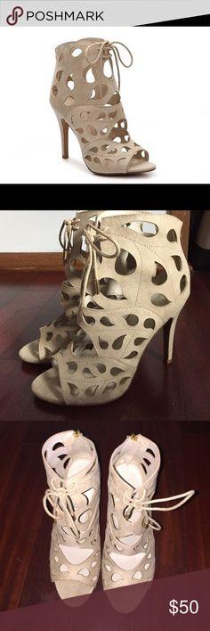 Aldo Figunno Bootie Heels Aldo cream Figunno Bootie heels. Only worn once, in excellent condition! Size 9 ALDO Shoes Heels