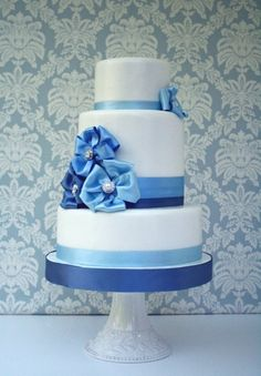 Something #Blue Wedding #Cake