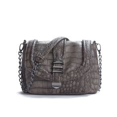 KDNY Mulberry Cross Body Bag - Taupe ($30) found on Polyvore