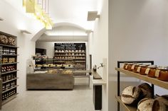 Supermarket Design | Bakery Areas | Retail Design | Shop Interiors | Bakery display ; cross merchandise