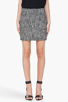 Theory Grey Cosmita Mini Skirt