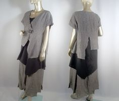 Summer layers in washed linen.  Lagenlook.