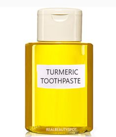 DIY Turmeric toothpaste for white teeth naturally