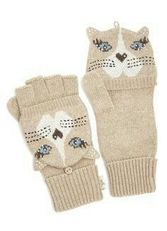 Discover the latest women's fashion and seasonal trends at Yumi. Crazy Cat Lady, Crazy Cats, Disney Cats, Fingerless Mittens, Cat Accessories, Cat Jewelry, Cat Face, Cat Gifts, Mitten Gloves