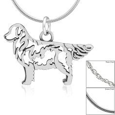 Golden Retriever Sterling Necklace at The Animal Rescue Site