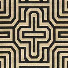 Safavieh Indoor/ Outdoor Matrix Sand/ Black Rug (7'10 x 11')