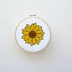 Sunflower Cross Stitch Pattern Instant by threadsandthings1, $3.00