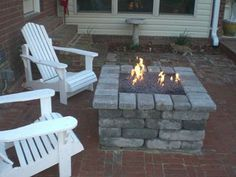 DIY propane fire pit! Love it. I hope I can tackle this when we build our patio.