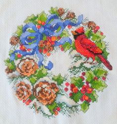Winter+Wreath+crossstitch+by+KatheStitches+on+Etsy