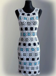 Dress Crochet Pattern No 229 by Illiana on Etsy, $5.90 I might have to buy this, love this dress