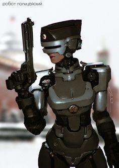 Soviet RoboCop Girl by AldgerRelpa  More robots here.