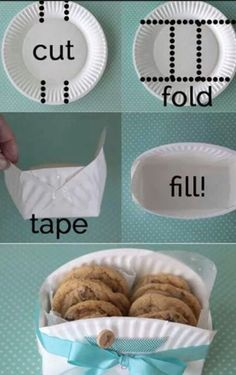 Paper plate gift box