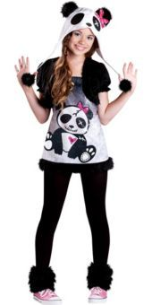 Girls Funky Panda Costume
