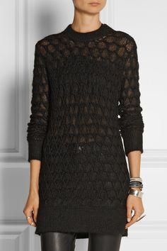 Helmut Lang|Honeycomb-knit sweater|NET-A-PORTER.COM