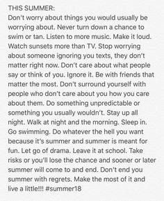 All Summer 18 Beau Message, Summer Quotes, Cute Quotes, Clipart, Beautiful Words, Summer Vibes, Positive Vibes, Wise Words, Just In Case