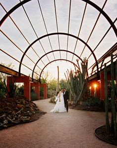 The Desert Botanical Garden has some of the most spectacular architecture and natural scenery in Arizona. It's a lovely place for a wedding, especially for all the nature lovers out there! | Real Arizona Wedding | WedAZ.com