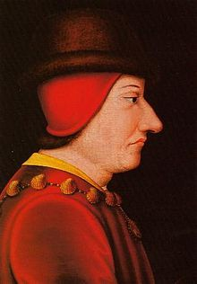 Louis XI, the Prudent (1423 - 1483). King of France from 1461 to 1483. He married Margaret of Scotland and had no children. He then married Charlotte of Savoy and had three children. He was very superstitious and is considered the first modern King of France.