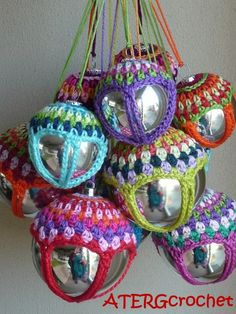 crocheted ball decorations