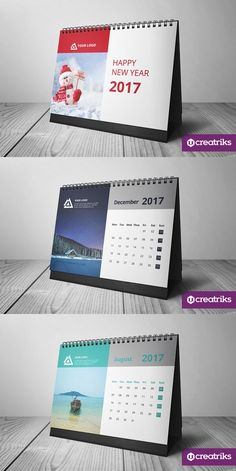 Desk Calendar 2017 - Premium and unique Desk Calendar for It looks great in your work desk, or even to use it as free promotion tool for your Calendar 2019 Design, Calendar Design Template, Printable Calendar Template, Kids Calendar, Design Bauhaus, Kalender Design, Newsletter Layout, Business Calendar, Desk Calendars