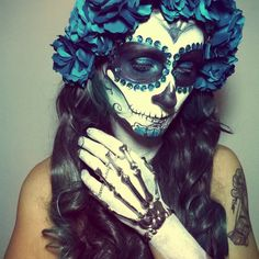 Sugar skull make up